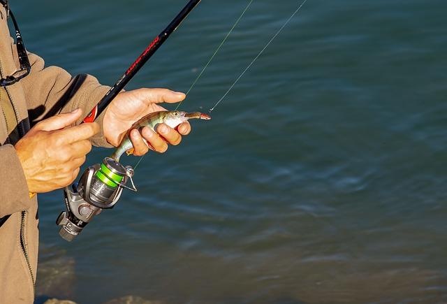 Finishing stringing your fishing pole