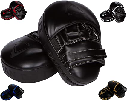 Boxing Focus Pads Hook and Jab Gloves Mitts Curved 5 Colors Adults
